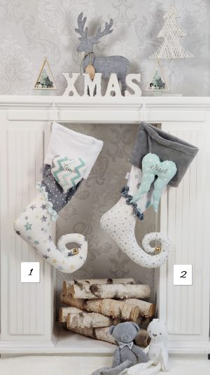 Božične dekoracije BOŽIĆNE čizmice MINT