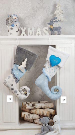 Božične dekoracije BOŽIĆNE čizmice Plave