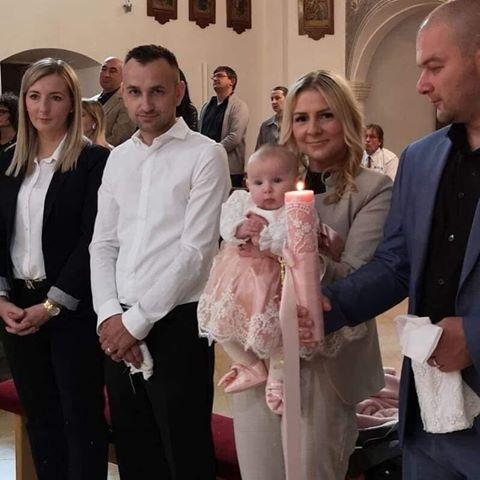 """KOMPLETI ZA KRŠTENJE / SVIJEĆE ZA KRŠTENJE """"BABY PINK"""" MIA"""