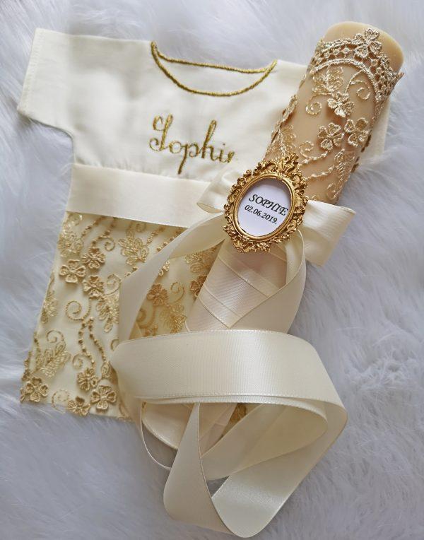 """KOMPLETI ZA KRŠTENJE / SVIJEĆE ZA KRŠTENJE """"PURE GOLD"""" - SOPHIE"""